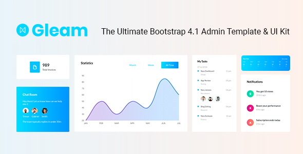 Gleam Bootstrap 4 Admin Template