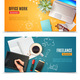 3D Office Objects Banners - GraphicRiver Item for Sale