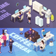 Office Isometric Banners - GraphicRiver Item for Sale