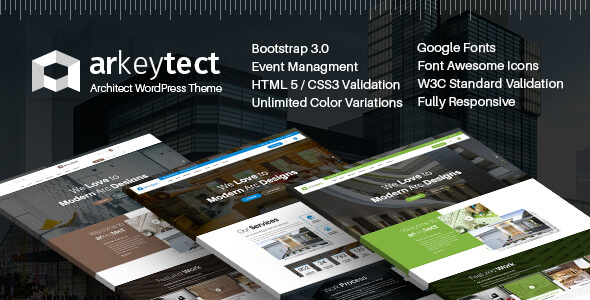 Architecture WordPress Theme - Arkeytect - Corporate WordPress