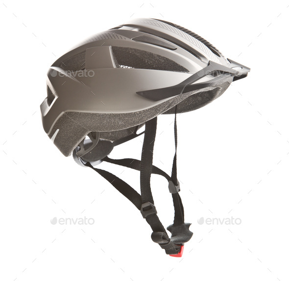 Hard bicycle helmet. - Stock Photo - Images