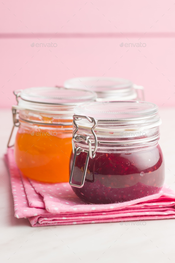 Fruity jam jelly. - Stock Photo - Images