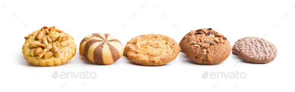 Various types of sweet cookies. - Stock Photo - Images