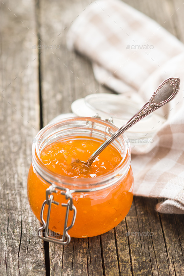 Apricot jam jelly. - Stock Photo - Images
