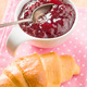 Raspberry jam jelly and croissant. - PhotoDune Item for Sale