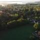 Misty Fields in Morning Birds Eye View - VideoHive Item for Sale