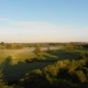 Misty Fields in Morning Birds Eye View - VideoHive Item for Sale