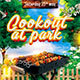 Cookout at Park Bbq Weekend Flyer Poster