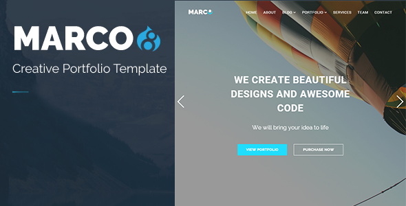 Image of MARCO - Responsive Multipurpose Drupal 8 Theme