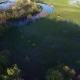 Drone Flies Over the River. Aerial View. - VideoHive Item for Sale