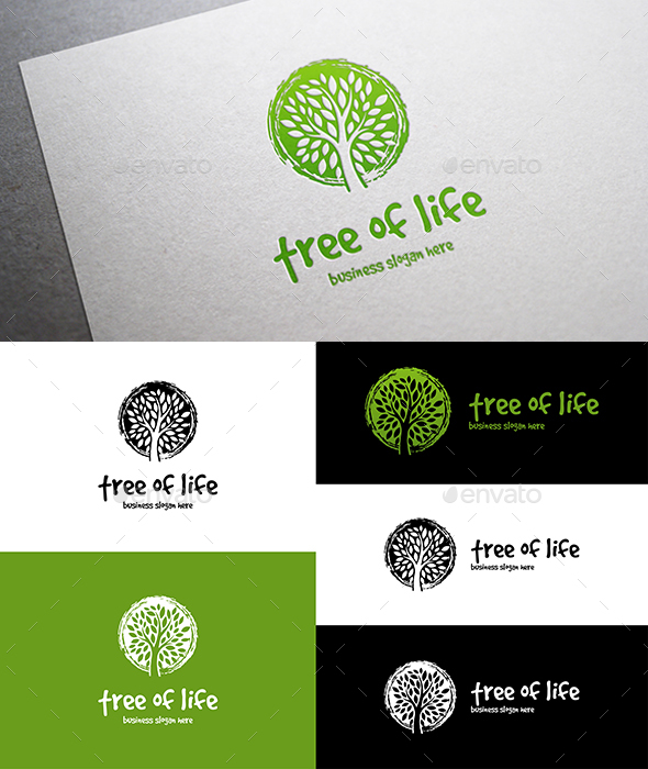 Tree of Life Logo - Nature Logo Templates