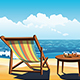 Two Chaise Lounges on the Beach - GraphicRiver Item for Sale