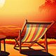 Deckchair at Sunset - GraphicRiver Item for Sale