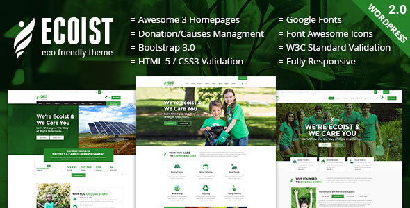 Ecoist - Environment & Non-Profit WordPress Theme - Environmental Nonprofit