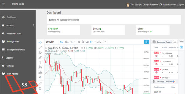 Online Trade - Online trading and cryptocurrency investment system.            Nulled