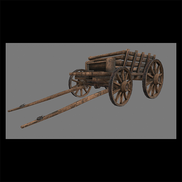 Wooden_Cart. - 3DOcean Item for Sale