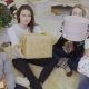 Happy Young People Gives Christmas Gifts To Camera - VideoHive Item for Sale