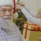 Senior Man Wearing Santa Hat Want To Make Suprise for His Wife - VideoHive Item for Sale