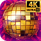 Gold Disco Ball 4k - VideoHive Item for Sale