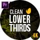 Gold Clean Lower Thirds for Premiere