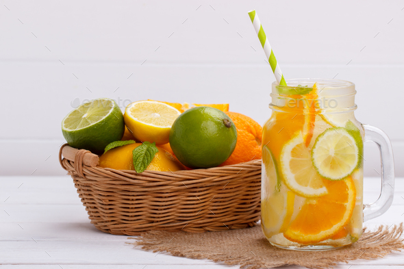 Orange infused water - Stock Photo - Images