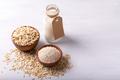 Oat flakes,flour and milk