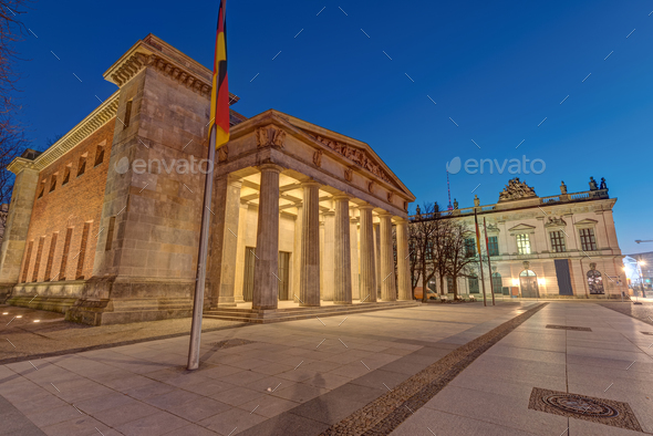 The Neue Wache war memorial and the German Historical Museum - Stock Photo - Images