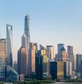 modern building closeup in shanghai at dusk - PhotoDune Item for Sale