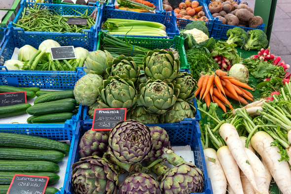 Fresh vegetables for sale  - Stock Photo - Images