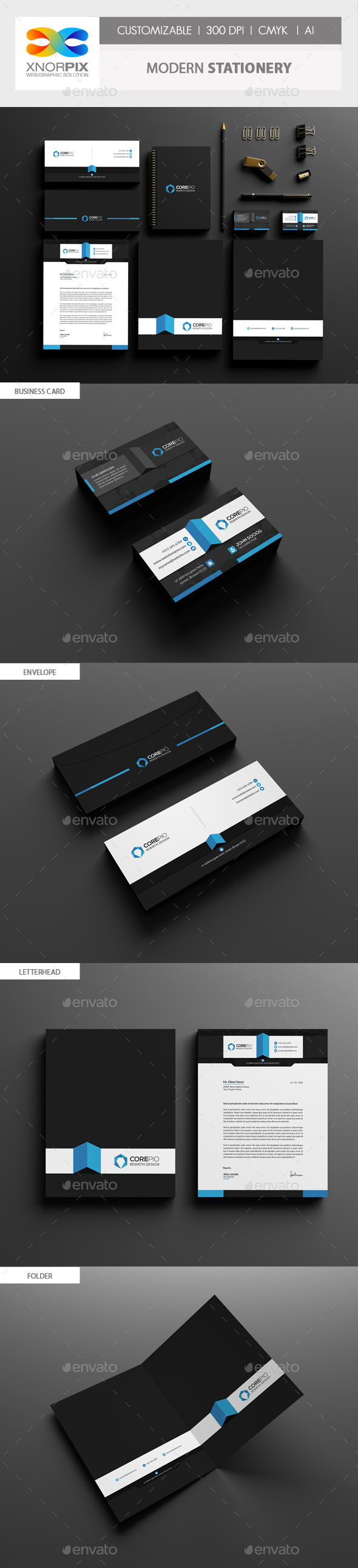 Modern Corporate Identity - Stationery Print Templates