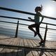 Running on sunrise coast boardwalk - PhotoDune Item for Sale