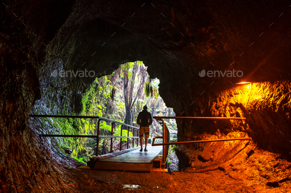 Lava tube - Stock Photo - Images