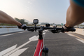 Cycling on city highway