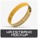Silicone Rubber Wristband Bracelet Mock-Up - GraphicRiver Item for Sale