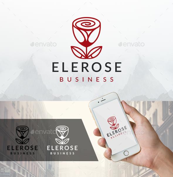 Elegant Rose Logo - Nature Logo Templates