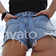 Shaped booty girl relaxing on the beach at sun - VideoHive Item for Sale