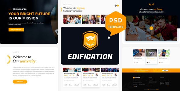 EDIFICATION – Educational Psd Template