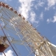 Big Ferris Wheel In The Park In Summer On A Sunny Day - VideoHive Item for Sale