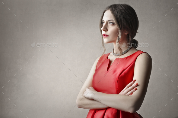 Portrait of an elegant woman  - Stock Photo - Images
