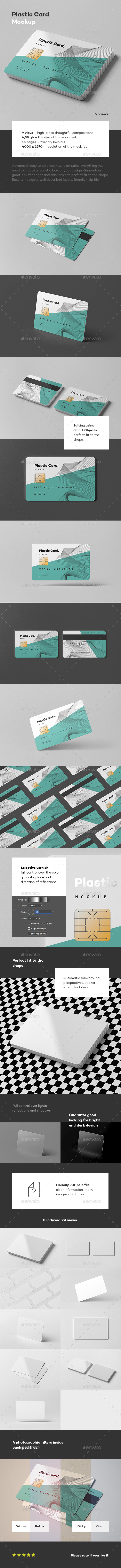 Plastic Card Mock-up - Business Cards Print