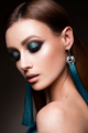 Beauty fashion model girl with bright makeup - PhotoDune Item for Sale