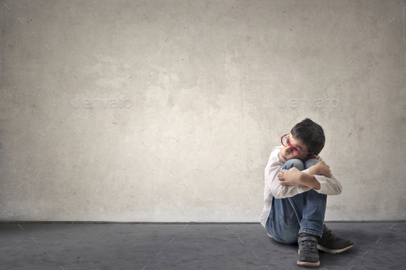 Alone child - Stock Photo - Images