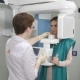 Female Patient Undergoes Panoramic Skull Scan of Teeth - VideoHive Item for Sale