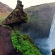 Great Waterfall Skogafoss in South of Iceland Near the Town of Skogar - VideoHive Item for Sale