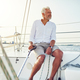 Mature man out for a sail on the ocean - PhotoDune Item for Sale