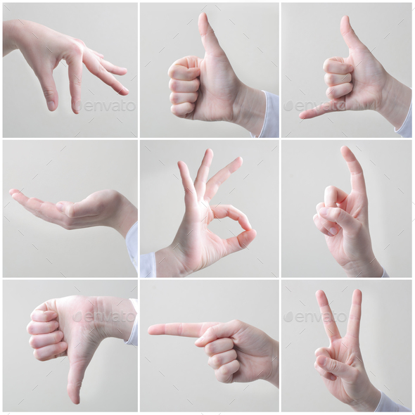 Collage of hands - Stock Photo - Images