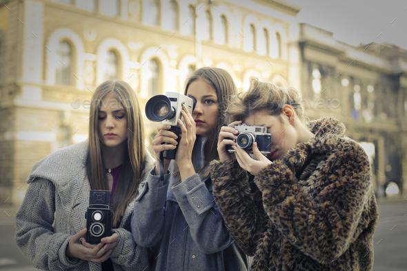 Three photographers - Stock Photo - Images