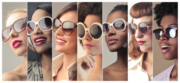 Girls with sunglasses - Stock Photo - Images