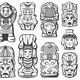 Vintage Maya Civilization Objects Collection - GraphicRiver Item for Sale