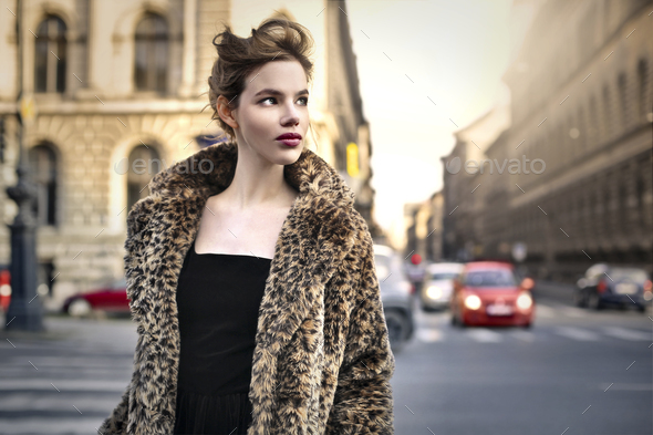 Elegant woman outdoor - Stock Photo - Images